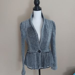 Juicy Couture Ruffle Peplum Cardigan